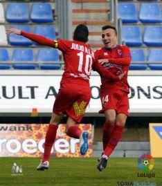 Foto 6 - Al Numancia le sobra el descuento frente al Girona (1-1)