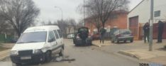 Choque entre furgoneta y turismo en el polígono de Soria