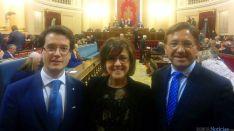 Angulo, Cabezón (izda.) y Martínez./JAPM