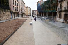 Imagen de la calle Doctrina este mismo viernes. / SN