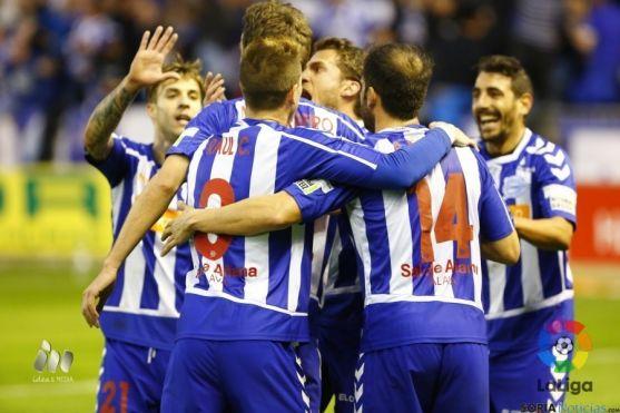El Alavés suma ya cuarenta y dos puntos en la Liga Adelante.