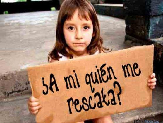 En España hay 2.700.000 niños que sufren la pobreza.