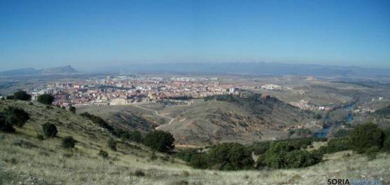Soria, desde el monte Santa Ana.