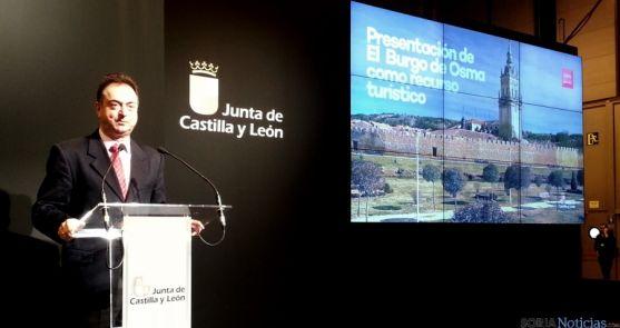 El alcalde burgense, Jesús Alonso, en la presentación turística de la Villa Episcopal. / Dip.
