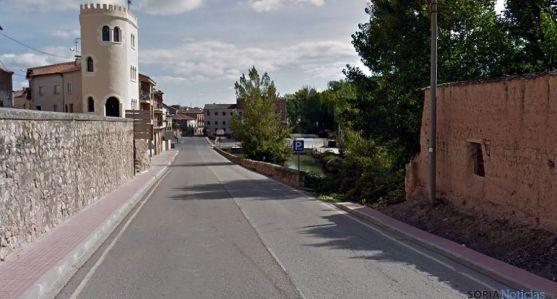 La avenida de Valladolid, en San Esteban de Gormaz. / GM