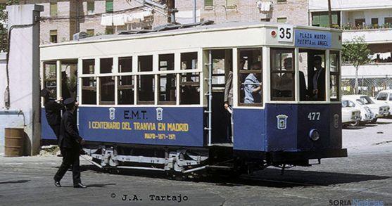 Un tranvía de los años 60 del pasado siglo./JAT