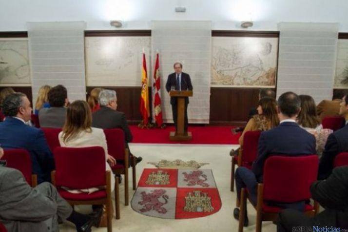 Herrera, en la reunión celebrada con sus altos cargos