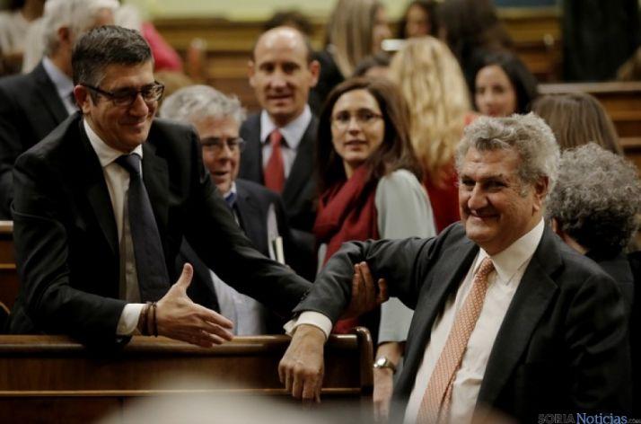 Patxi López y Jesús Posada, en la sesión de constitución de la Cámara Baja.