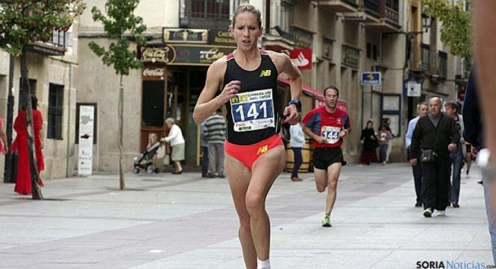 Estela Navascués, en una prueba en Soria.