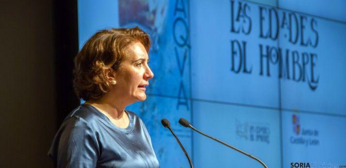 La consejera María Josefa García-Cirac, este miércoles en Fitur. / Jta.