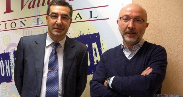 Fernando Toribios, (izda.) con el periodista Ignacio Pérez, de EPCYL.