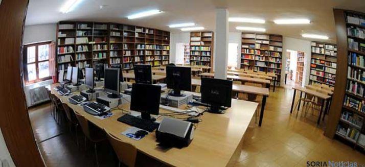 Una sala de la UNED en Soria. / SN