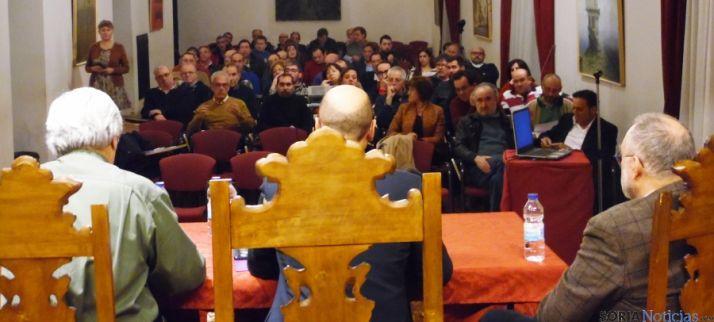 Asistentes  al encuentro procedentes de Soria y de las provincias vecinas