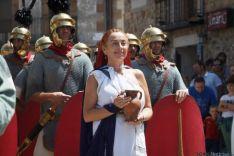 Representación del cerco de Escipión a Numancia.