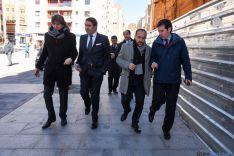 El consejero de Fomento y Medio Ambiente ha traído compromisos económicos para Soria.