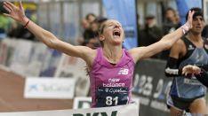La atleta afincada en Soria ha conseguido hoy la mínima para participar en el maratón.