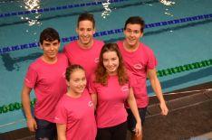 Nadadores sorianos en Valladolid.