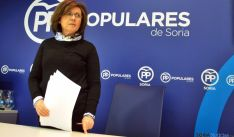 La presidenta del PP soriano, Marimar Angulo este viernes. / SN