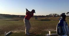 El golfista en el torneo egipcio.