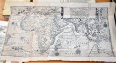Mapa del libro de Jan Huyghem van Linschoten que será restaurado