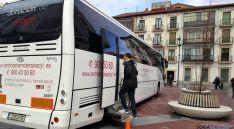 El autobús para donaciones snguíneas.