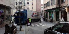 El camión, 'atascado'. / SN