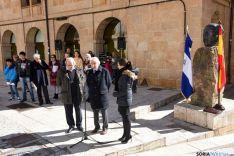 Homenaje público a Antonio Machado y Rubén Darío. / Fotos: Ana Isla