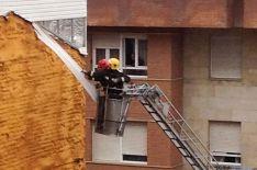 Actuación de los bomberos.