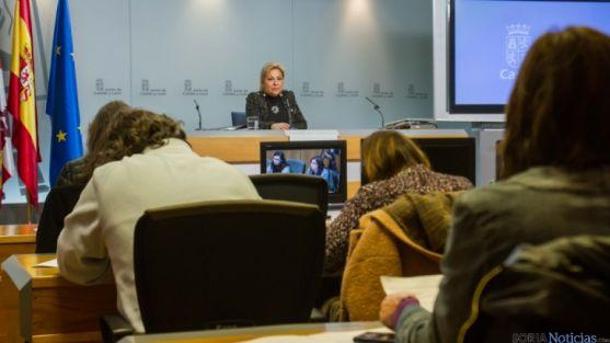 La vicepresidenta Rosa Valdeón, en una comparecencia de prensa.