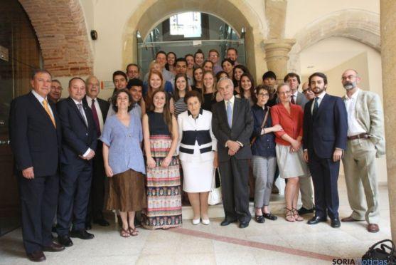 Los Duques de Soria, en un acto de la fundación que lleva su nombre.