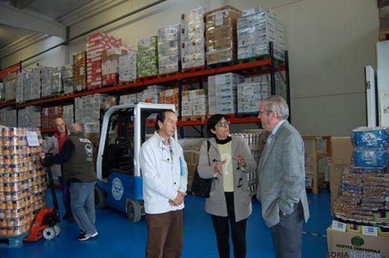 El Banco de los Alimentos de Soria tiene su nave en el polígono de Valcorba.