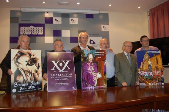 Presentación de los carteles anunciadores de la Semana Santa de Soria, El Burgo de Osma y Ágreda.