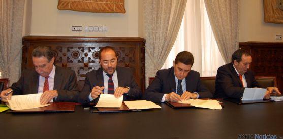 Anselmo García, (izda.), Luis Rey, Carlos Martínez Izquierdo y Raúl Lozano. / Dip.