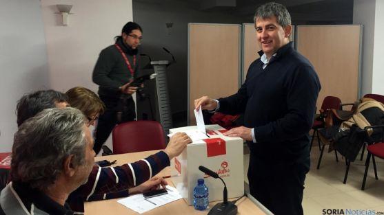 Javier Antón, este sábado. / PSOE