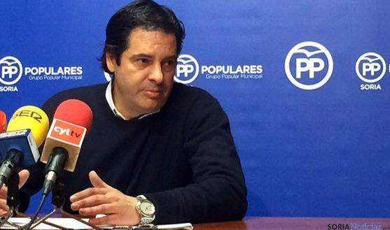 El concejal del PP municipal, Javier Martín.
