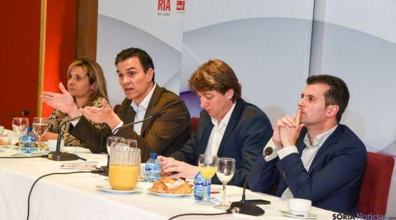 Carlos Martínez, en la visita realizada por Pedro Sánchez a Soria.