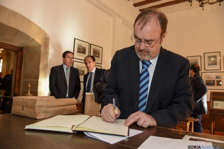 El consejero Fernando Rey, este lunes en Soria. / SN