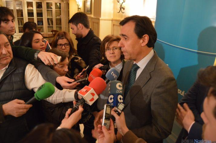 Fernando Martínez Maíllo, este miércoles en Soria ante los medios de comunicación. / SN