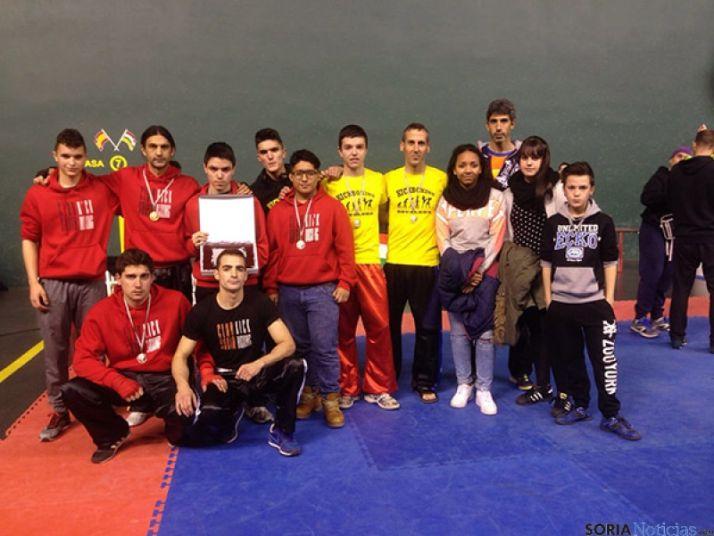 Los deportistas sorianos que han competido en Logroño.