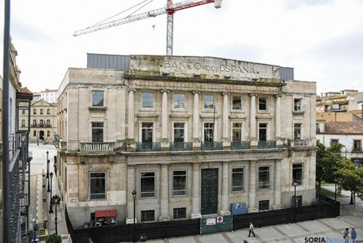 La antigua sede del Banco de España sigue sin inquilinos una década después.