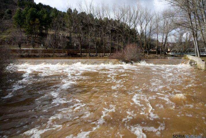 El Duero, en las últimas inundaciones en Soria.