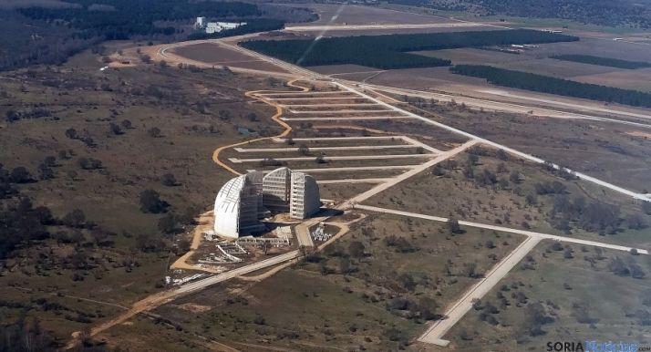 Imagen aérea del Parque Empresarial del Medio Ambiente, (PEMA). / SN