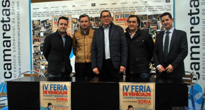 E. Madurga (izda.), V. Mateo, . J. Moya, R. Untoria y F. Sanz este miércoles. / SN