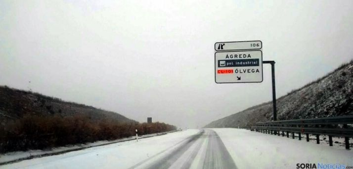La variante nevada de Ágreda en una imagen de archivo./SN