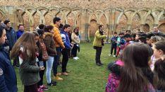 Los alumnos durante la jornada.