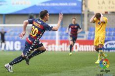 Natalio, tres goles frente al Alcorcón.