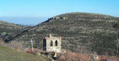 Españada de la iglesia de Fuentebella, hoy un despoblado soriano.