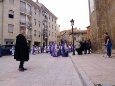 Imagen de la procesión de las Siete Palabras este Viernes Santo en Ágreda. / SN