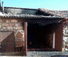 Imagen de la cochera tras el fuego./Dip.