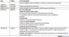 El calendario de actividades./SN